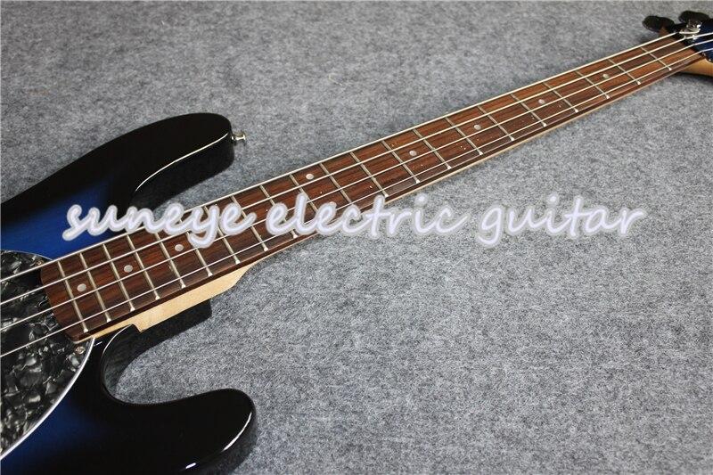 Vintage bleu brillant finition musique homme Style guitare basse électrique 4 cordes guitare basse avec Basswood guitare corps livraison gratuite - 2