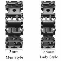 2,45 cm Lauffläche Outdoor Gespleißt Armband Multifunktionale Tragen Schraubendreher Werkzeug Hand Kette Feld Überleben Zubehör Uhr Link