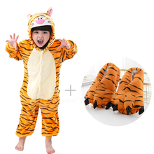 Unicorn Kigurumi Onesie Kids Pajamas For Children Animal tiger stitch panda Cartoon Blanket Sleepers Baby Costume Winter boys