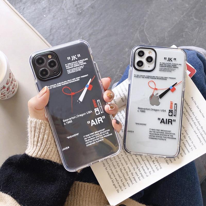Off Street sport Trend брендовый Прозрачный мягкий силиконовый чехол для телефона iphone 7 8 X XS XR MAX 11 Pro Plus, белый чехол с этикеткой ins