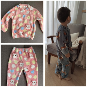 Image 5 - Winter Flannel Kids Pajamas Sets Child Warm Sleepwear Cartoon Animals Print Baby Girls Boys nightwear Children Pajamas For Girls