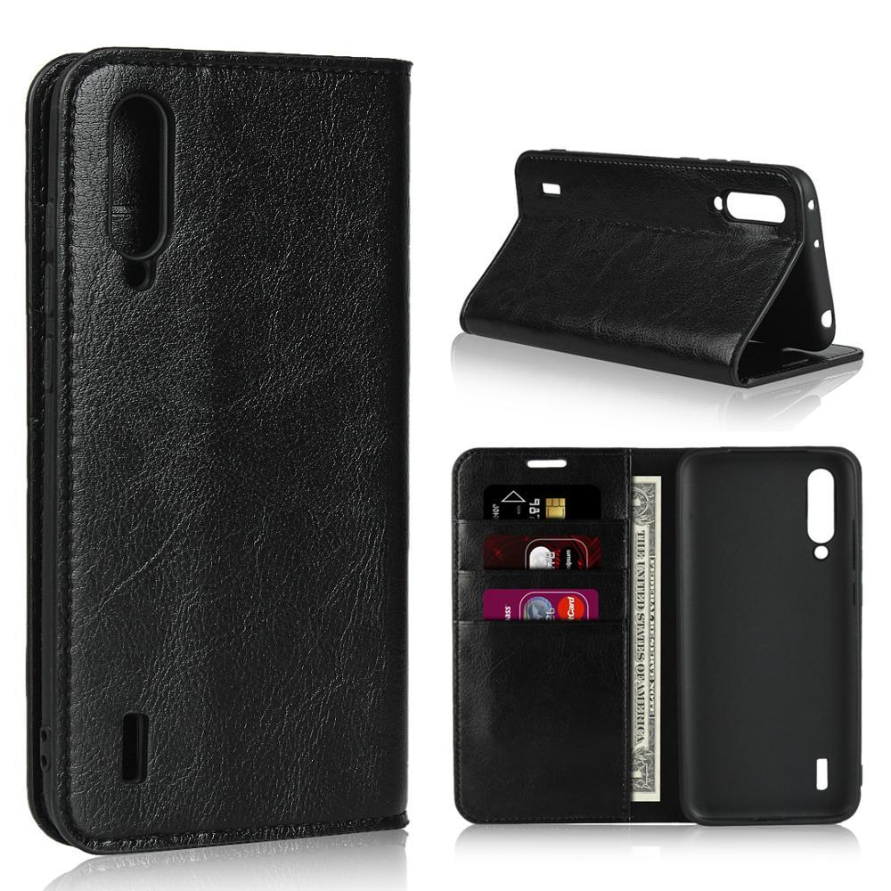 360 Natural Genuine Leather Skin Flip Wallet Book Shockproof Phone Case Cover On For Xiaomi MI 9 Lite 9T Pro Mi9 Mi9t 9lite Mi9Lite 9TPro T Global 6/8 64/128/256 GB Xiomi Light(China)