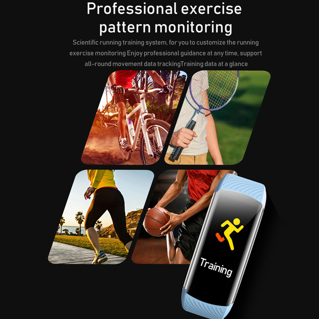 Sport Fitness Bracelet Waterproof  Fitness Tracker Blood Pressure Heart Rate Monitor Smart Band Watch For Android IOS Phone 3