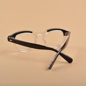 Image 5 - Мужские и женские очки в оправе Джонни Depp, оправа для очков из ацетата с логотипом в стиле ретро, 313