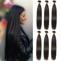 Ali Coco Brazilian Straight Hair Weave Bundles 100% Human Hair Bundles 3/4 PCS 8 30 Inch Non Remy Hair Extensions