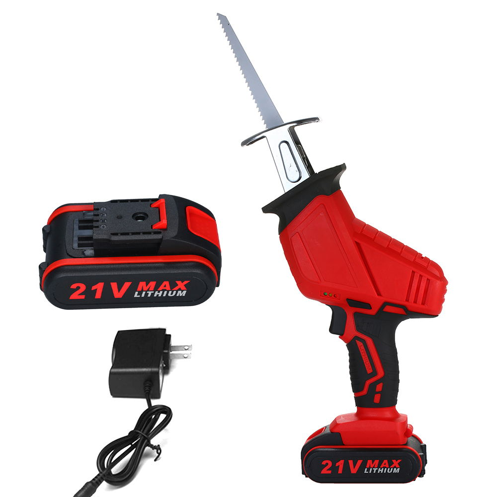 3500mAh Rechargeable Small Electric Reciprocating Jig Saw Portable Handheld Mini Sawing Machine Felling Chainsaw Wood Cutter