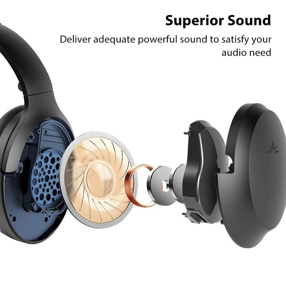 Avantree Active Noise Cancelling Hoofdtelefoon met Mic 35H Draadloze Bedrade ANC Over Ear Headset voor Vliegtuig Reizen - 2
