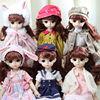 Dress up 30 cm doll clothes 22 joints bjd6 points baby clothes jeans suit skirt costume headwear shoes princess suit cute dress