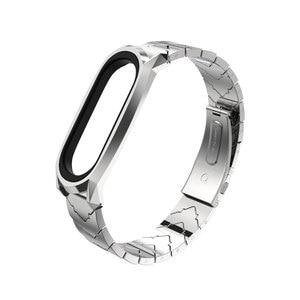 Image 5 - Metal Bracelet Mi Band 5 Strap NFC Global Version Correa Original for Xiaomi Mi Band 4 Smart Watch Mi Band 3 Stainless Wrist