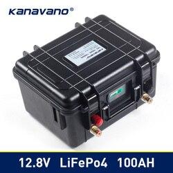 12 فولت 100 أمبير دورة عميقة Lifepo4 بطارية أيون الليثيوم فوسفات حزمة BMS المدمج في ل عربة جولف EV RV بطارية لتخزين الطاقة الشمسية