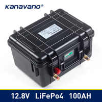 12v 100Ah Deep Cycle Lifepo4 Lithium Iron Phosphate battery pack BMS Built-in for Golf cart EV RV Solar energy storage battery
