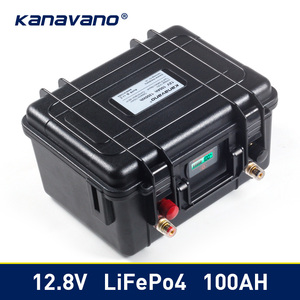 12v 100Ah Deep Cycle Lifepo4 Lithium Iron Phosphate battery pack BMS Built-in for Golf cart EV RV Solar energy storage battery(China)