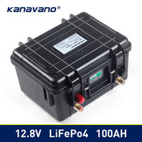 12v 100Ah Deep Cycle Lifepo4 Lithium Iron Phosphate battery pack BMS Built in for Golf cart EV RV Solar energy storage battery