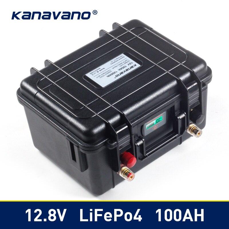 Paquet profond de batterie de Phosphate de fer de Lithium du Cycle Lifepo4 de 12v 100Ah BMS intégré pour la batterie de stockage d'énergie solaire d'ev RV de chariot de Golf
