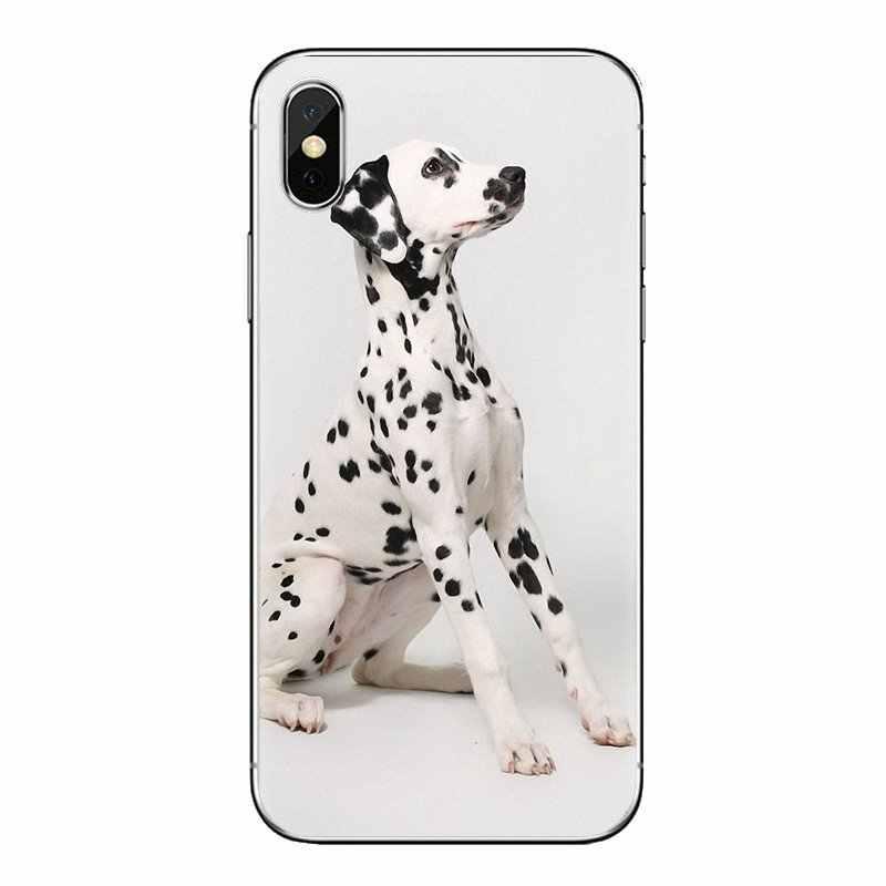 Para Sony Xperia Z Z1 Z2 Z3 Z5 compacto M2 M4 M5 C4 E3 T3 XA Huawei Mate 7 8 y3II funda para teléfono móvil bebé dálmata cachorros perro