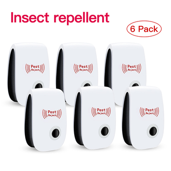 Ultrasonic Electromagnetic Mosquito Anti Mouse Insect Repeller Rat Cockroach Control Household Pest Reject Repellent 1/3/4/6Pack electronic ultrasonic anti mosquito insect repeller rat mouse cockroach pest reject repellent us plug