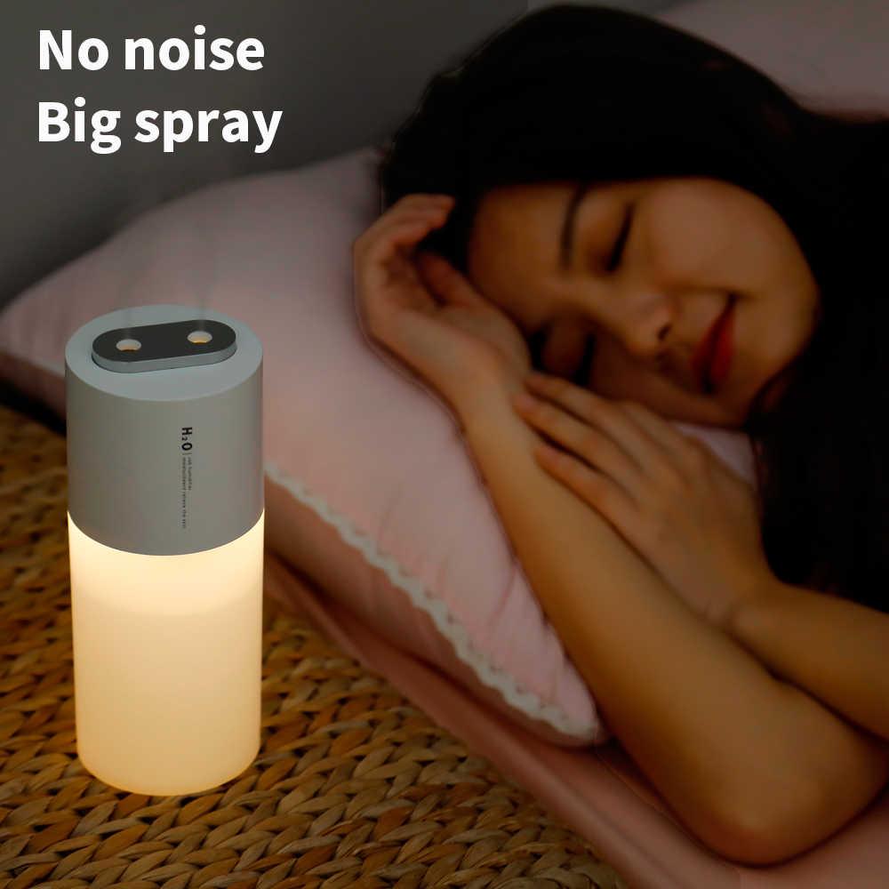 Yüksek kaliteli 400ML ultrasonik hava nemlendirici aromalı uçucu yağ difüzör ev araba USB sisleyici Mist Maker LED gece lambası ile