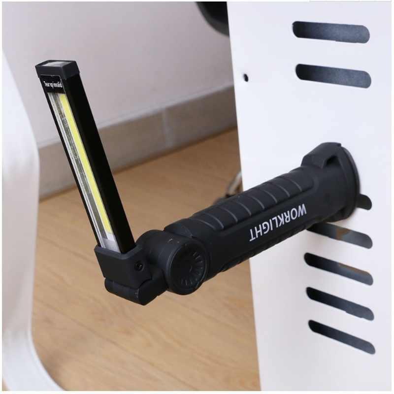 5 Mode Outdoor Magnetik Isi Ulang Darurat LED COB Senter Pemeriksaan dan Perbaikan Mobil Bekerja Lampu Camping Lampu dengan Hook