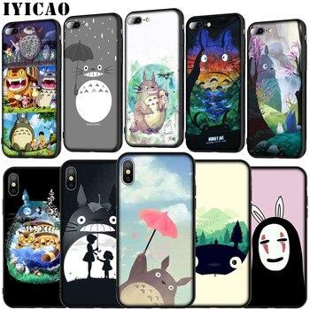 IYICAO mi vecino Totoro Anime suave de silicona caso de la cubierta para Huawei P30 P20 Pro P10 P9 Lite 2017 Mini 2016 P Smart Z Plus 2019