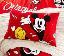 Disney 100% Cotton Pillowcase 1Pcs Cartoon red Mickey Minnie Home Textile Childrens Presents Pillowshams 48x74cm hot sale gift