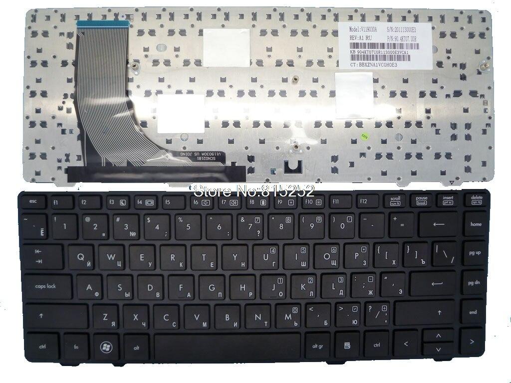 Клавиатура для ноутбука HP ProBook 6360B 6360T V119030A 639478-251 90.4KT07.U0R черная русская