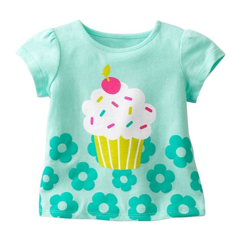Kids Girl T Shirt Summer Baby Cotton Tops Toddler Tees Clothes Children Clothing Cartoon T-shirts Short Sleeve Casual Wear 4