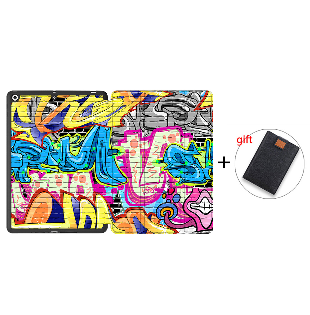 IPBC13 Silver MTT Tablet Case For iPad 10 2 inch 7th 8th Generation 2020 Soft TPU PU Leather