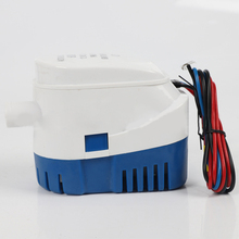 1100GPH Automatic Boat Bilge Pump 12V/24V DC Submersible Electric Water Pump Small with Float Switch Boat Marine Bait Tank Fish
