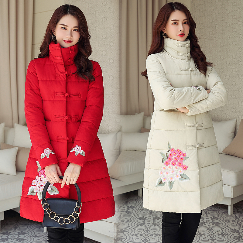 Parkas Coat Outwear Cotton Jacket Warm Long Women Winter Thickening for Female