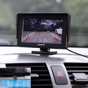 Image 3 - Монитор для автомобиля Jansite, 4,3 дюймовый TFT ЖК дисплей, беспроводная камера s, камера заднего вида, парковочная система, NTSC PAL