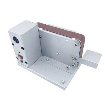 Small Abrasive Belt Machine Sander Belt Grinder Desktop Polishing Grinding Machine Electric Woodworking Tools Sharpener Home DIY недорого