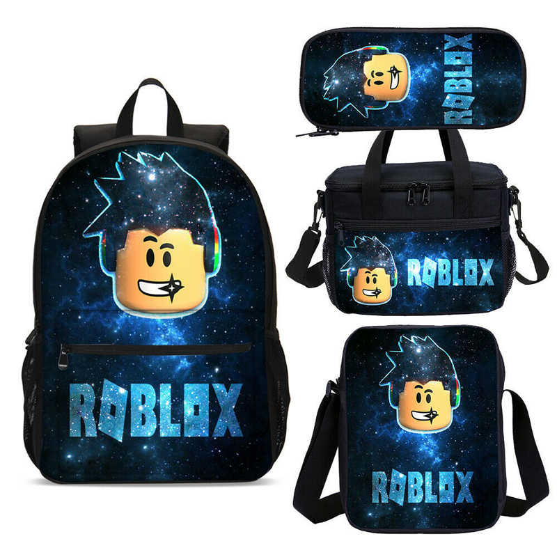 4 Stks/set Cartoon Gedrukt Schooltassen Fashion Game Rugzak Tieners Nylon Waterpoof Boekentas Mochila Toevallige Rugzak
