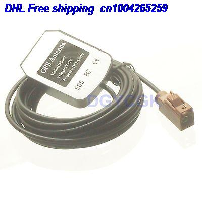 DHL 50pcs Antenna GPS Active 1575.42MHZ Fakra SMB F 8011 Brown female for RG174 cable antenna 22-a
