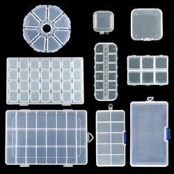 9 boyutları plastik saklama takı kutusu bölmesi ayarlanabilir konteyner boncuk küpe kutusu takı dikdörtgen kutusu kasa