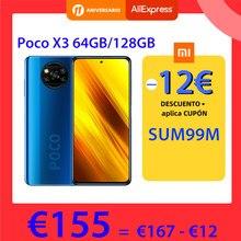 POCO X3 – Smartphone, Version globale, 64 go/128 go, NFC, Snapdragon 732G, Quad caméra 64mp, écran 6.67 pouces, 120Hz, batterie 5160mAh