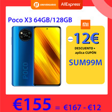 Version mondiale POCO X3 NFC 6GB 64GB 128GB Smartphone Snapdragon 732G 64MP Quad caméra 6.67