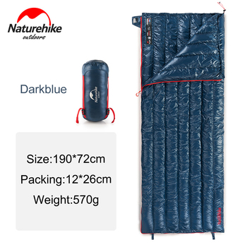 Naturehike Goose Down Sleeping Bag Outdoor Ultralight Adult Flea Bag Warm Lazy Bag Splicing Single Envelope Sleeping Bag