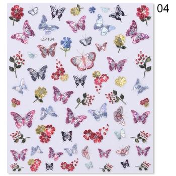 Flower Series Nail Water Decal Stickers Sakura Daisy Lavender Floral Pattern Transfer Sticker  Nail Art Decoration 8