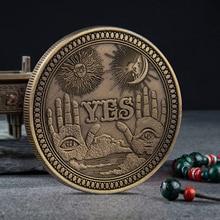 Morgan Dollar Coin-Yes Hobo Nickel-Usa Collection Challenge No-Commemorative Art-Craft