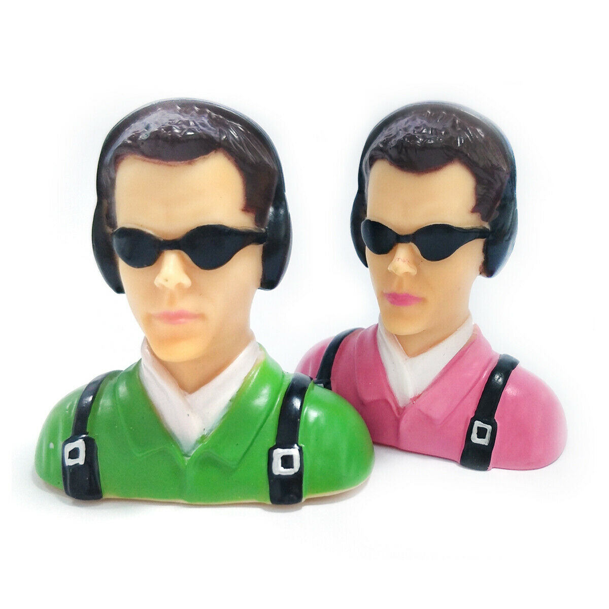 1/6 Scale Pilots Figure Statues  Pink/Green  For RC Aircraft Plane L66*W39*H70mm