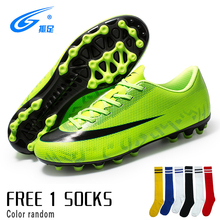 soccer shoes for men turf football boots child breathable cheap soccer cleats male football sneaker light mens soccer shoes Men High Ankle Football Boots Soccer Cleats Turf Shoes Kids Soccer Shoes Indoor Futsal Sneakers Chaussure Football Enfant
