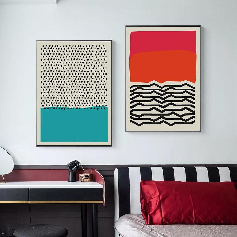 Современные разноцветные красные, синие абстрактные геометрические настенные художественные картины, холст, картина, Постер и печать, гостиная, домашний декор|Рисование и каллиграфия|   | АлиЭкспресс - Уютно дома