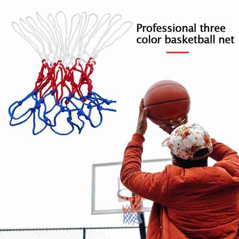 Basketball Nets Basketball Nets Polypropylene Bold Heavy Three-color Nylon Basketball Frame Nets Standard Game Nets