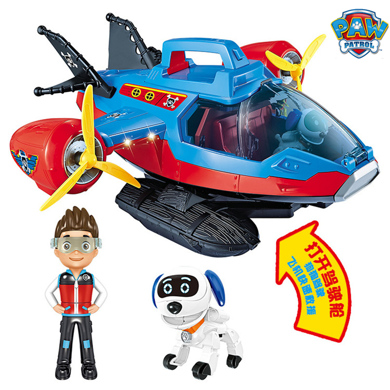 Image 5 - Paw Patrol Dog Toy set Toys Air patrol Aircraft Toy Pirate Ship Robot Dog Music Action Figures Toy for Children Birthday GiftAction & Toy Figures   -