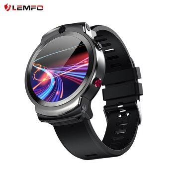 LEMFO LEM13 4G Android GPS Wifi Smart Watch Men Dual 8MP Cameras 1.6 inch Face ID 1280 mAh 3G 32G Smartwatch