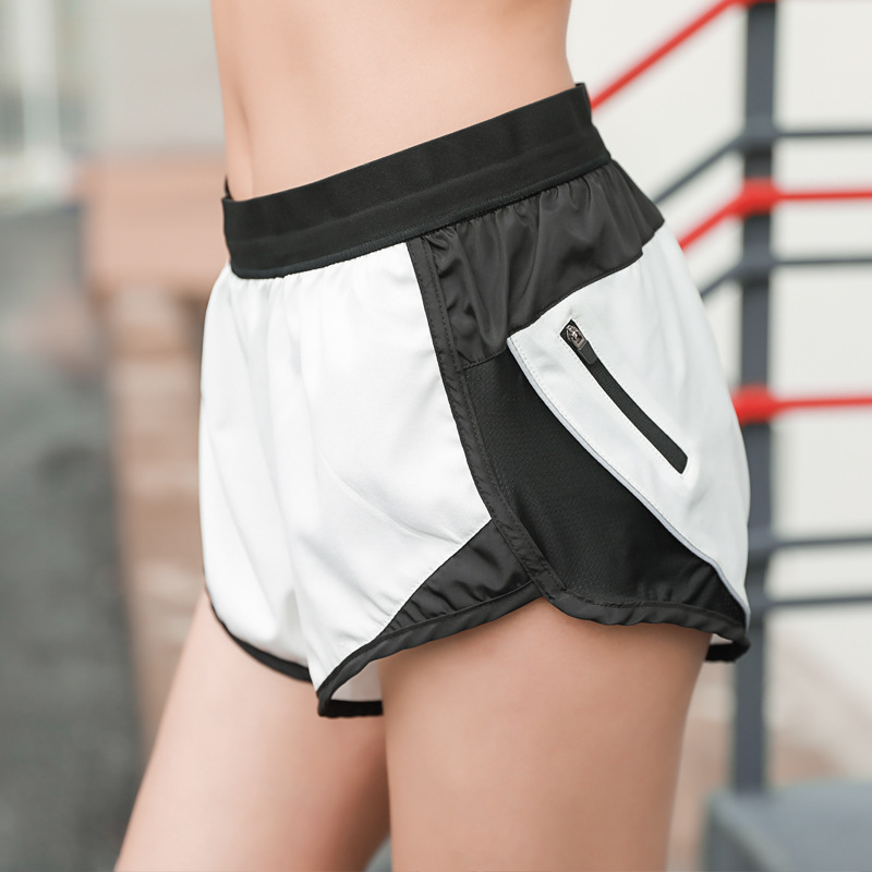 Summer Sports Shorts Women Do Not Run Out Of Zippers Fitness Shorts Loose Thin Lady Shorts Quick Dry Running Hot Shorts