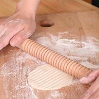 Rodillo de madera para hornear, pasador de rodillo, herramienta de dumplings, masa de piel, herramienta de cocina de pastelería
