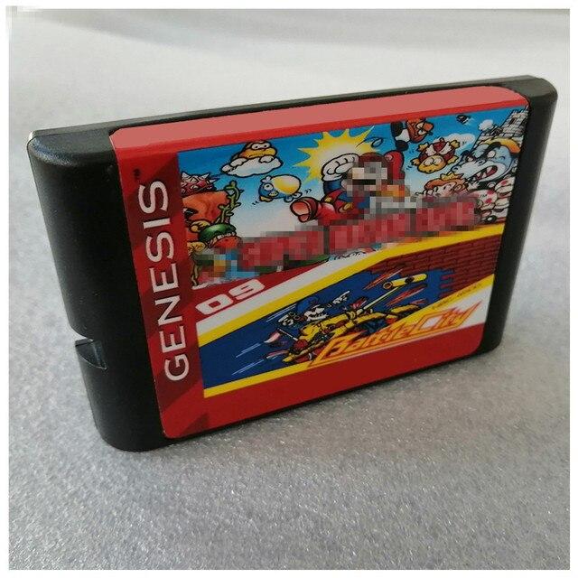 Supermaribros. و معركة مدينة 16 بت لعبة خرطوشة ل سيجا نشأة megنسيج ل PAL و NTSC