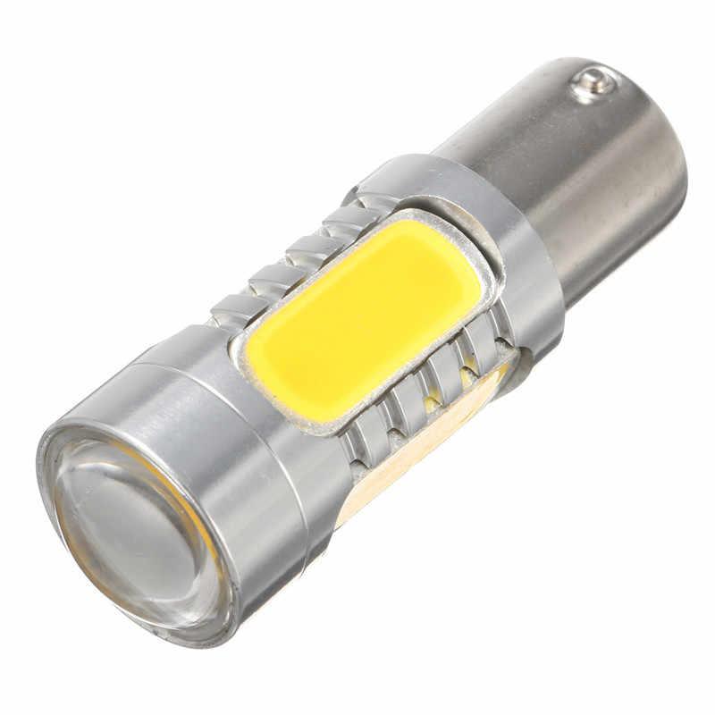 2 uds 1156PY BAU15S PY21W 7,5 W bombillas LED COB Luz de respaldo de señal de giro lámpara amarilla de cola de la lámpara de soporte Dropshipping