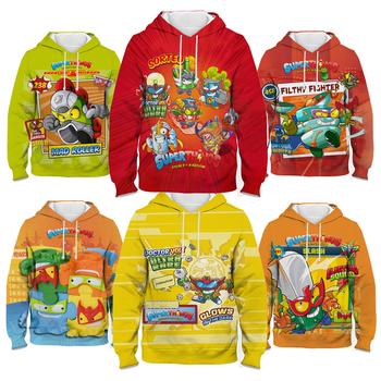 2021 nowe Superzings bluzy super rzeczy dzieci dzieci kolorowe Super Zings Serie 7 bluzy chłopcy dziewczęta wiosenna z kapturem tanie i dobre opinie COTTON POLIESTER REGULAR CN (pochodzenie) Na wiosnę jesień Drukowanie Na co dzień Pełne STANDARD Sukno Sweatshirt Proste